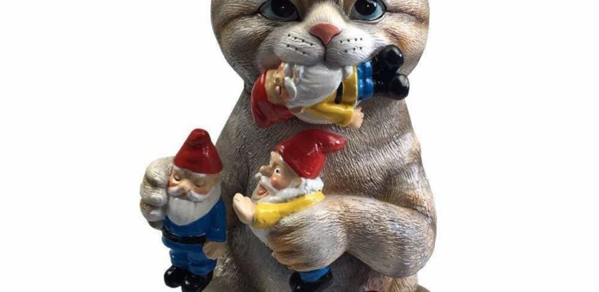 Cat and Garden Gnomes