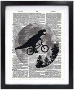 Dinosaur on a Bike Art Print