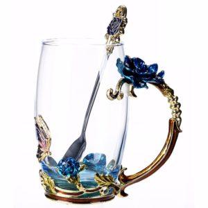 Flower Glass for Hot Drinks