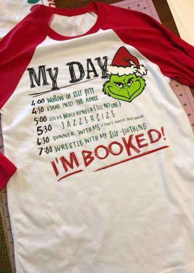 Grinch To-Do List Baseball Shirt