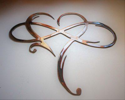 Infinity Heart Metal Wall Art