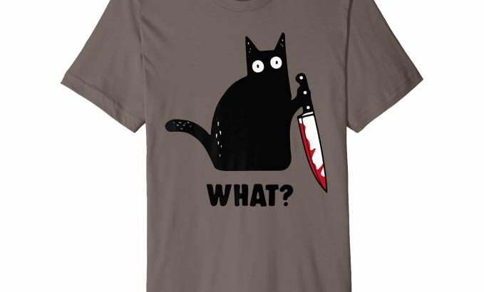 Kitty with Knife T-Shirt