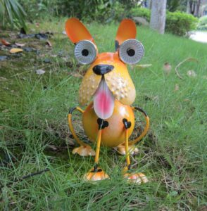 Solar-Powered Dog Garden Statue