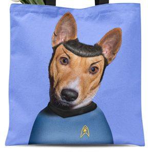 Spock Dog Tote Bag
