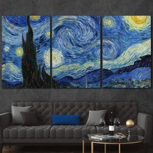Starry Night Panel Wall Art