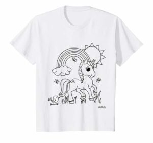 Color Your Own TShirt - Unicorn