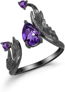 Amethyst Wings Rings