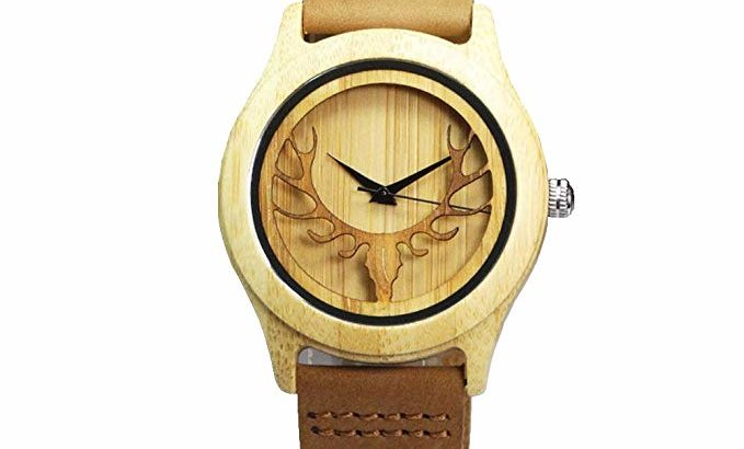 Bamboo Deer Head Watch