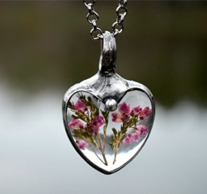 Flowers in Necklace