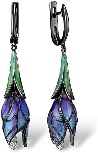 Enamel Stained Glass Style Earrings