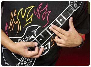 Electronic Playable Guitar TShirt